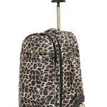 Leopard Print Trolley Backpack
